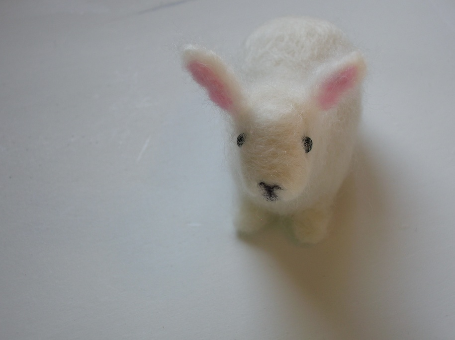 needle felted rabbit