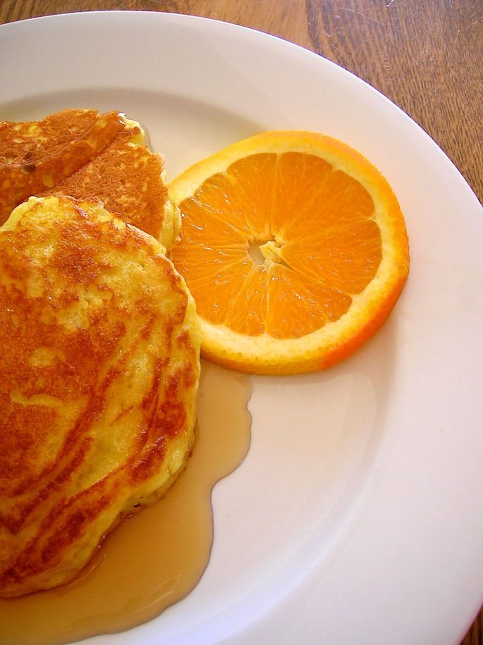 orange yogurt pancakes