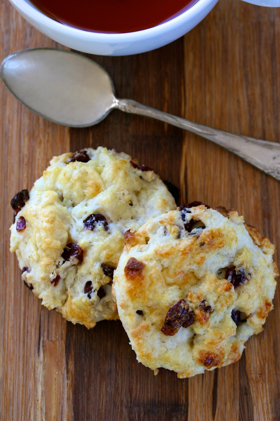 white chocolate cherry scones | movita beaucoup
