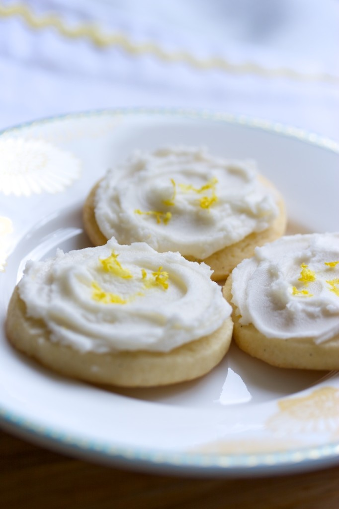 refrigerator cookies with lemo frosting | movita beaucoup