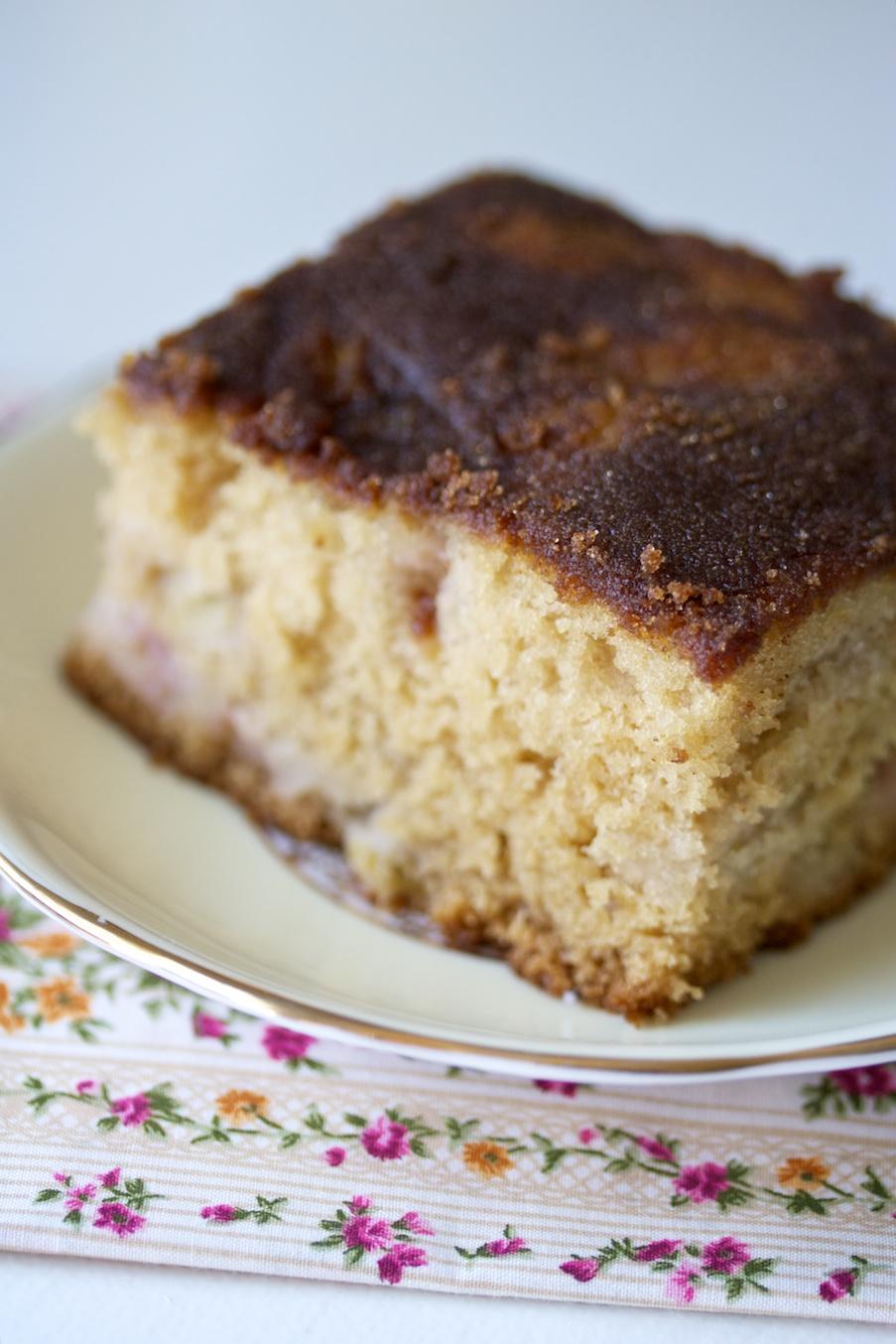 old fashioned rhubarb cake