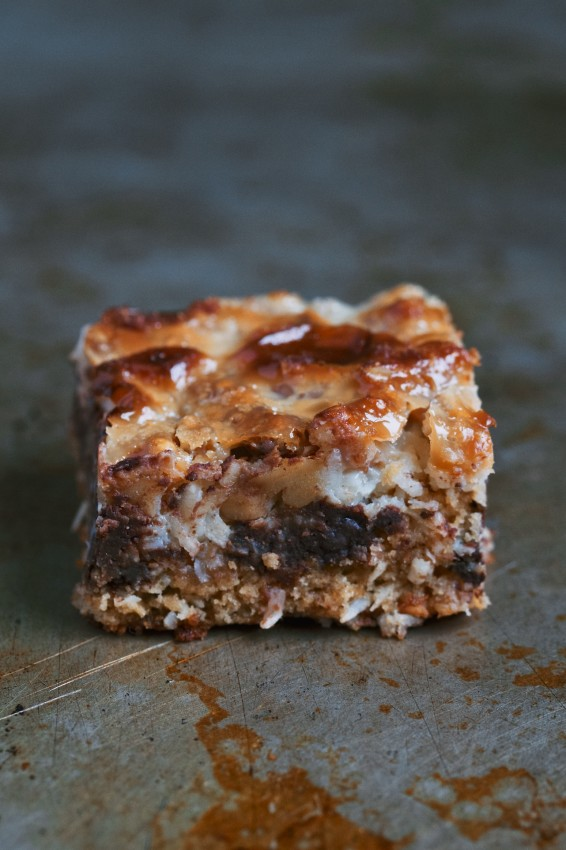 chewy gooey layer bars | movita beaucoup