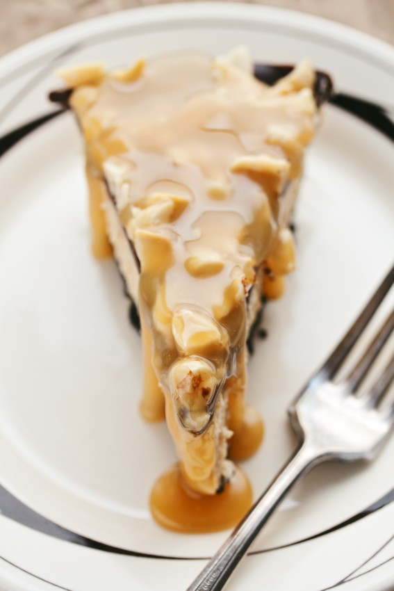 frozen chocolate peanut butter pie | movita beaucoup