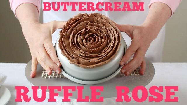 buttercream ruffle rose tutorial | movita beaucoup | includes a youtube video