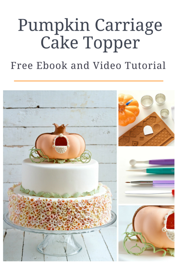 pumpkin carriage cake topper tutorial: free ebook! // movita beaucoup