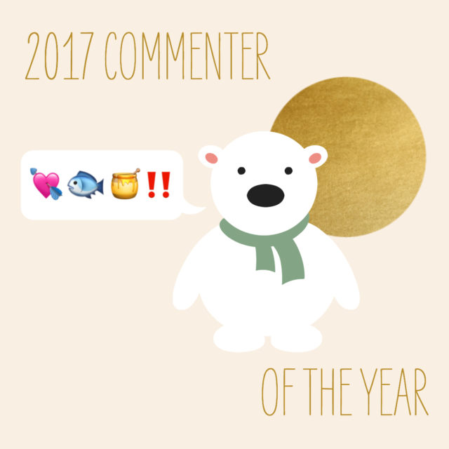 commenter of the year // movita beaucoup