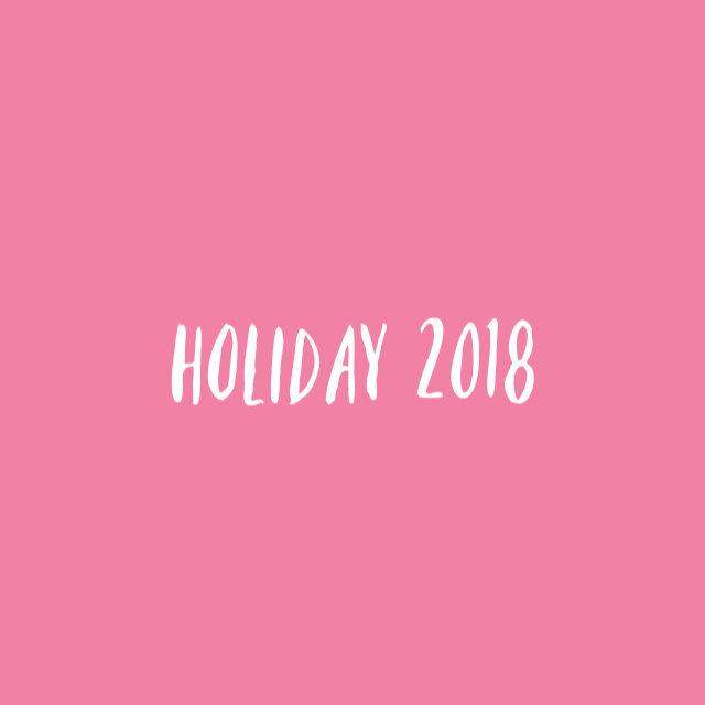 holiday 2018 // movita beaucoup